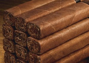 A stack of box pressed cigars.