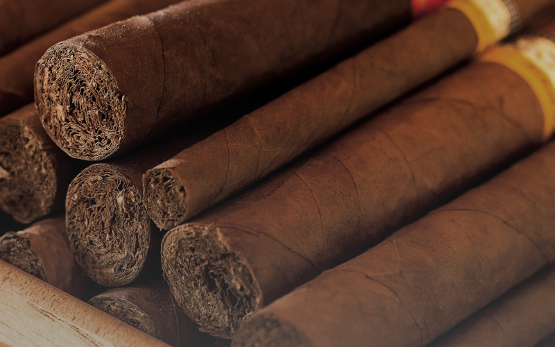 A stack of different cigar types